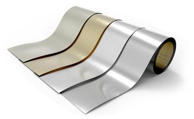 Nous proposons de l'aluminium laqué sur des rouleaux de petite quantité.