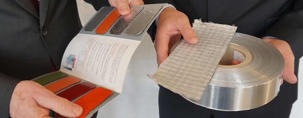 Einige unserer Produkte: Aluminium, Laminate und lackiertes Material.